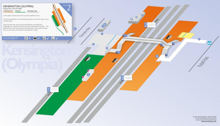3D Kensington (Olympia) Map