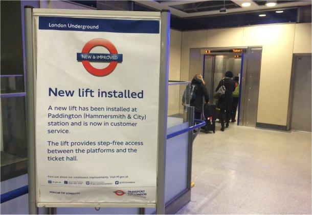 Hammersmith Lift SIgn