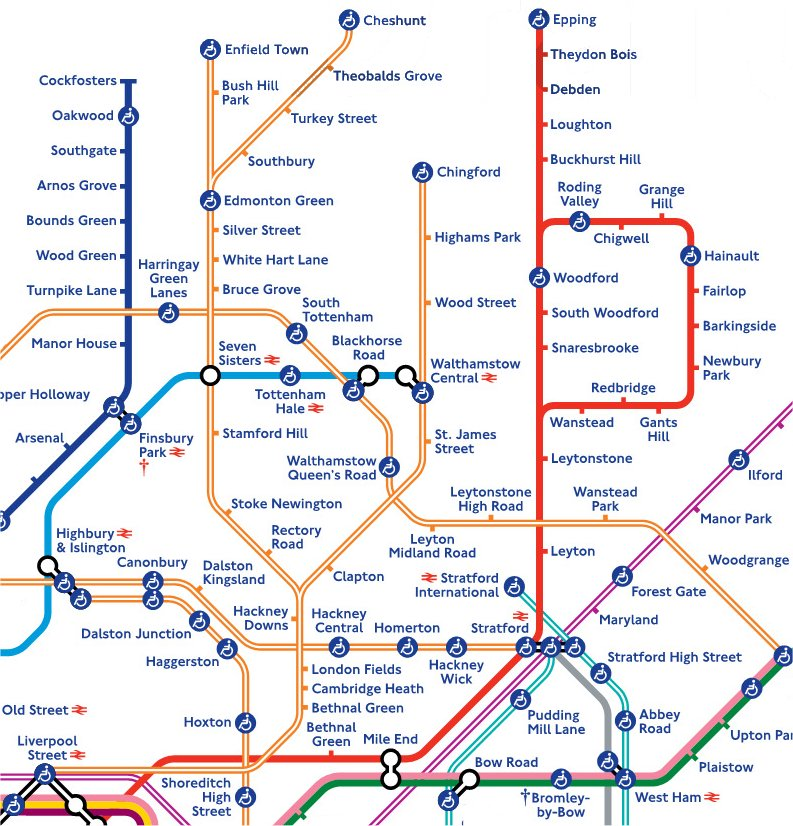 Overground to Chingford Cheshunt and Enfield StationMasterApp