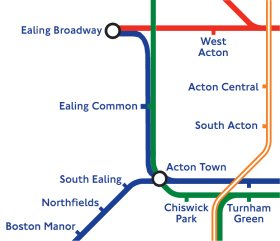 Piccadilly to Ealing Broadway  permanently  StationMasterApp
