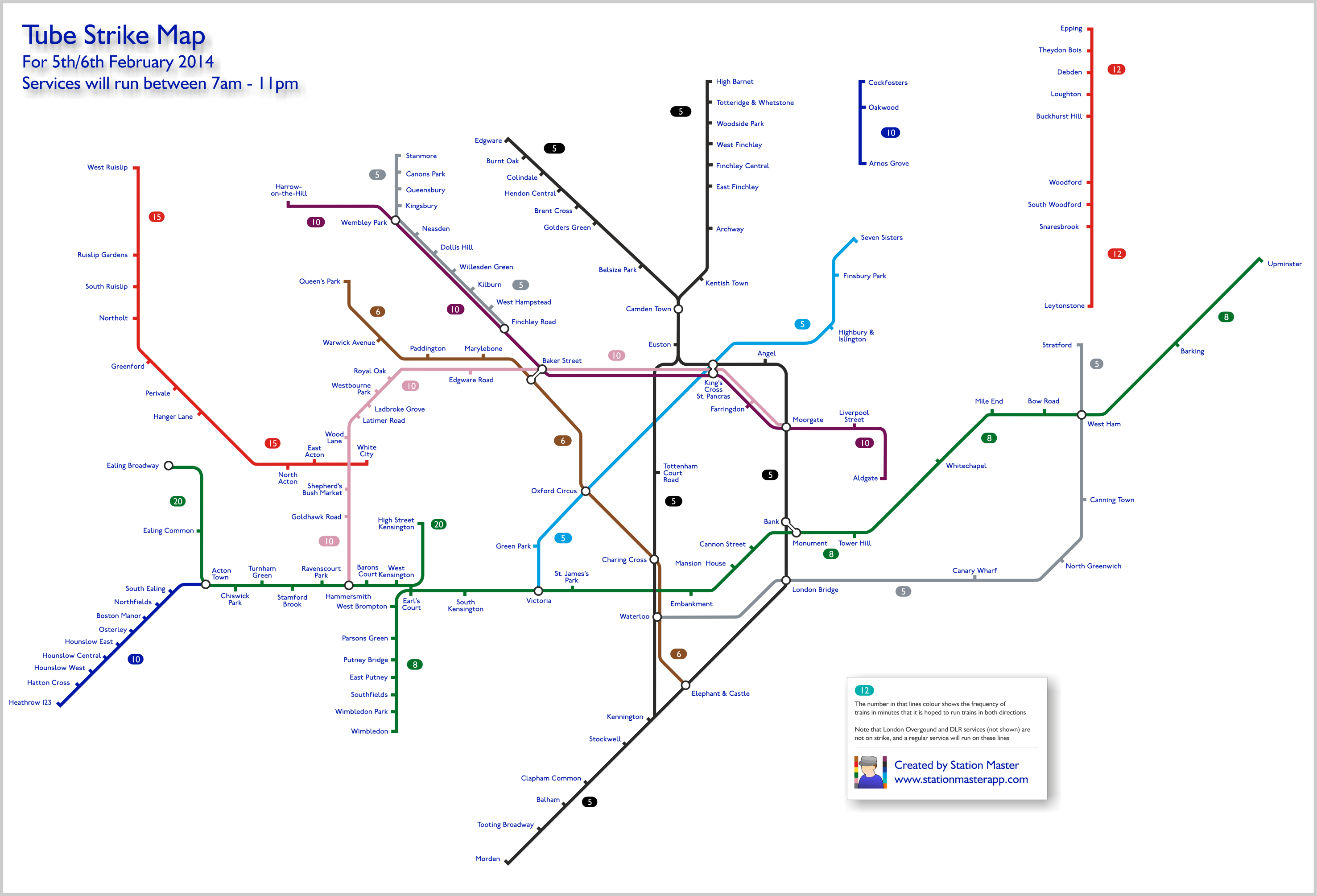 Tube Strike Map StationMasterApp