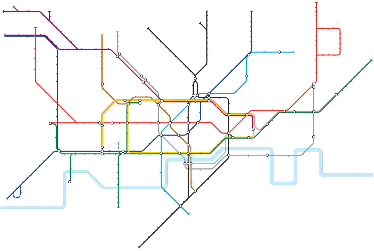 blanked out tube map