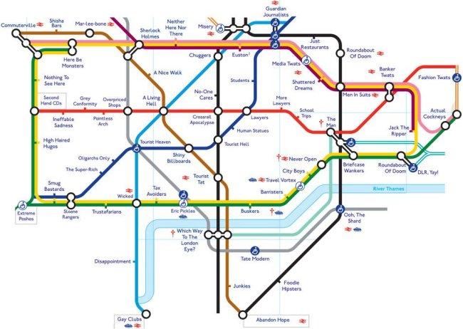 Printable London Subway Map.Alternative Tube Maps Stationmasterapp Page 4