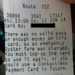 Emergency Fare Ticket
