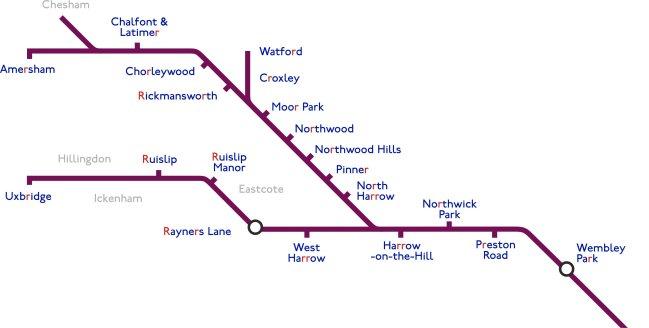 Metropolitan Line Map Metropolitan Line   StationMasterApp Metropolitan Line Map
