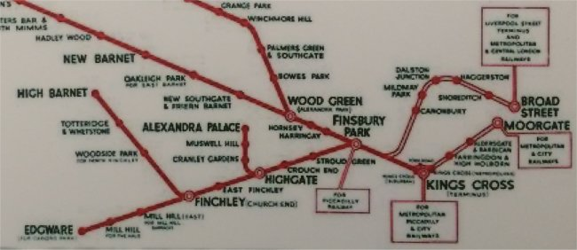 LNER map