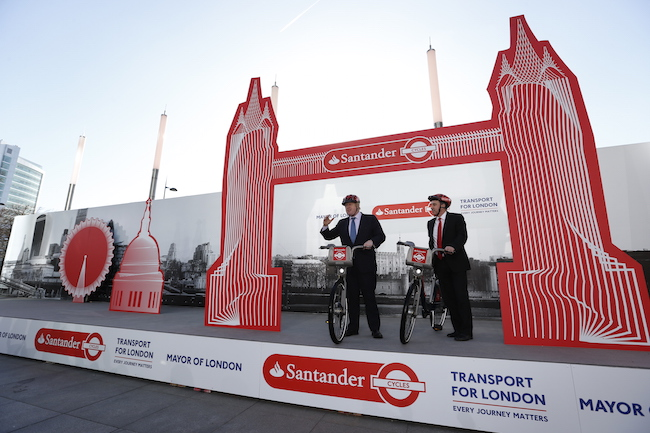 Santander Cycles Announcement - London