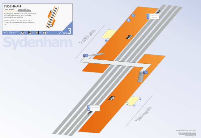 Sydenham Station 3D Map
