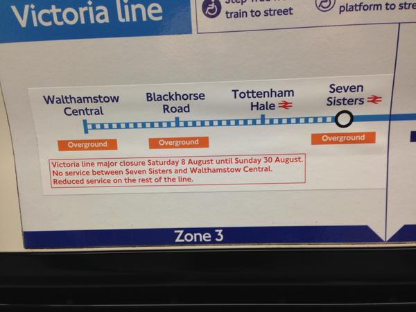 No Victoria line