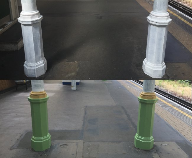 South Ken Coloured Pillars