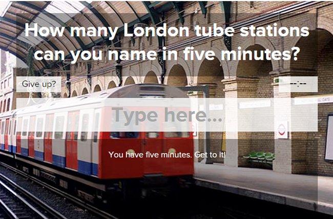 Five minute quiz