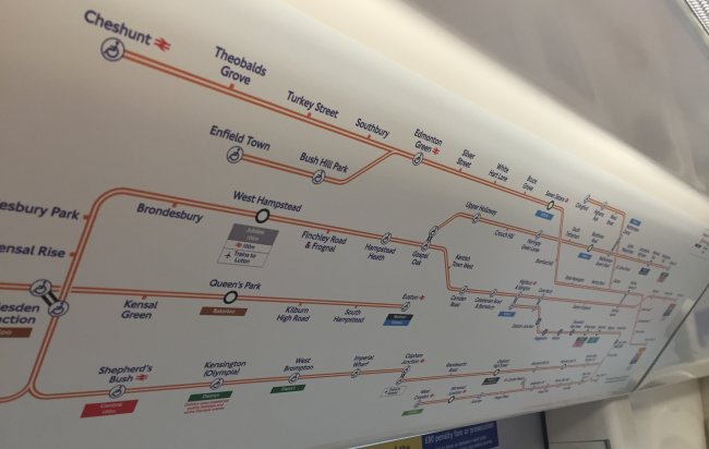 Overground Carriage Map