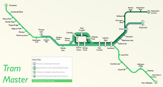 Croydon Tramlink Map Tramlink | StationMasterApp
