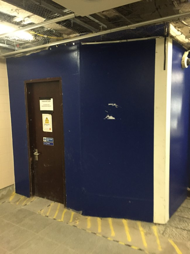 Lift not finished at Vauxhall