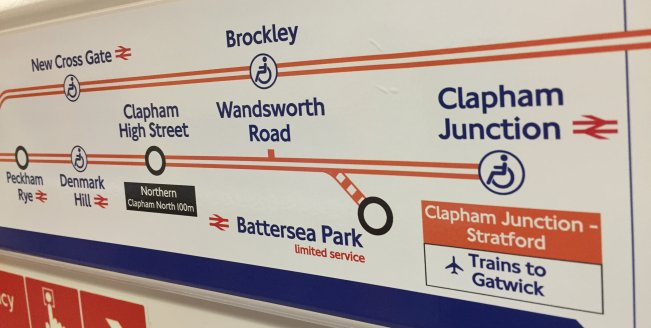 Battersea Park On Overground Carriage Maps StationMasterApp - Northern line map london
