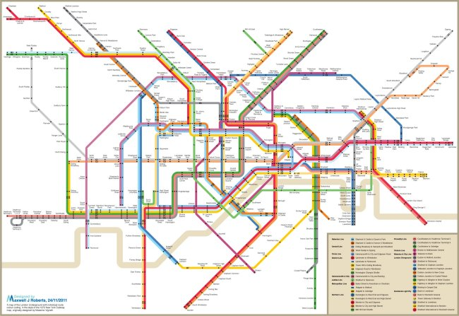 New York style Tube Map